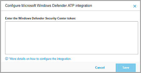 Microsoft Windows Defender ATP Integration